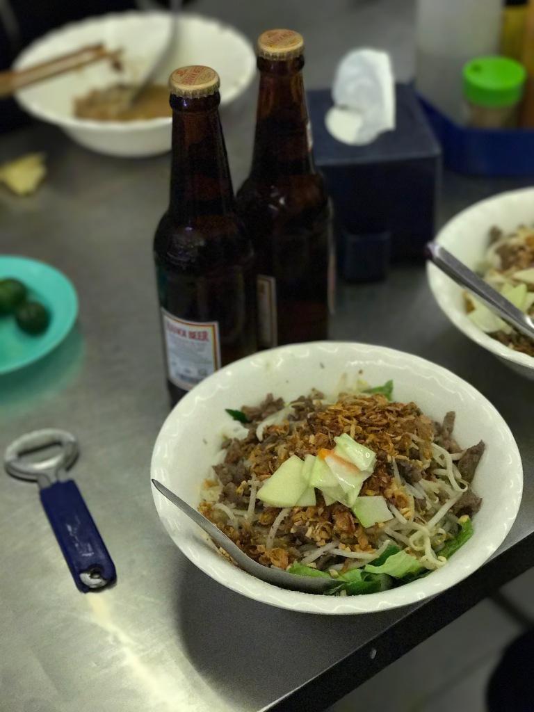 Bun Bo Nam Bo + Hanoi Beer @ Bun Bo Nam Bo Hang Dieu