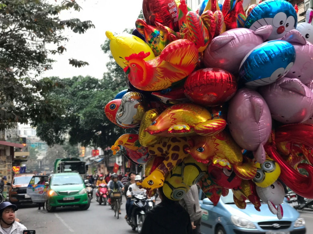 Festive balloons in time for the Tet holidays