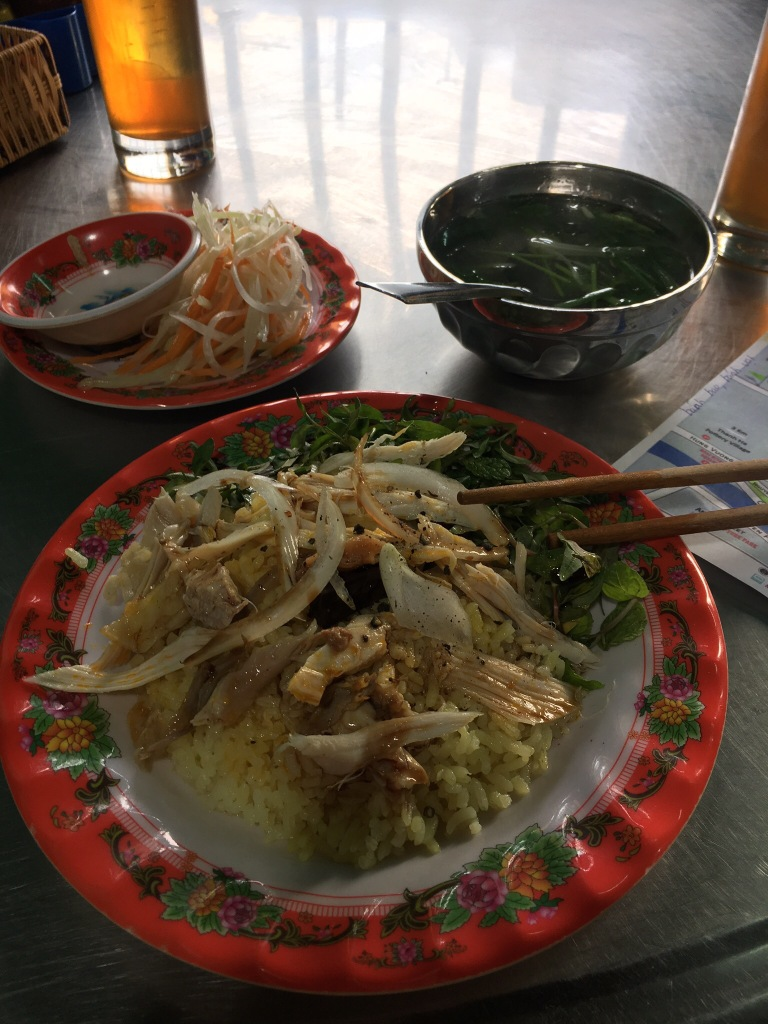 Com Ga + fluorescent tea @ Com Ga Ba Buoi