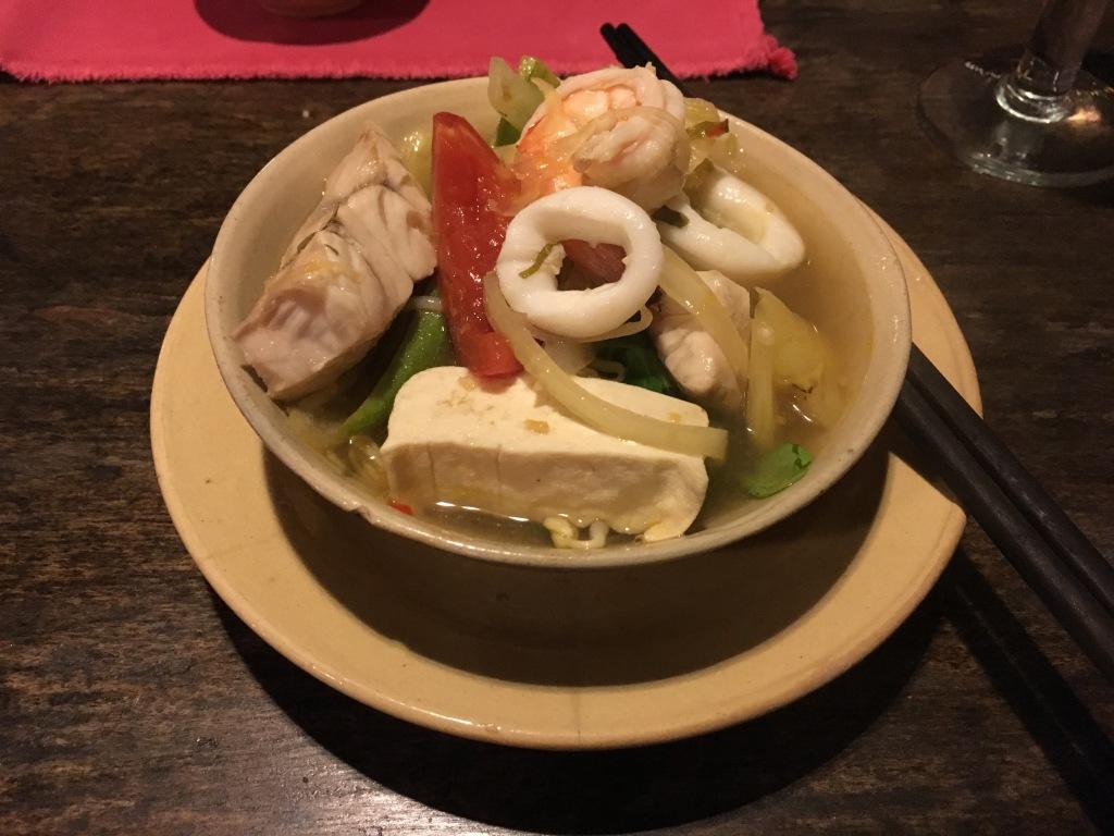 My bowl of hotpot goodness @ Mai Fish