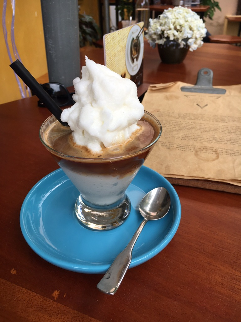 Iced coconut coffee @ The Espresso Station