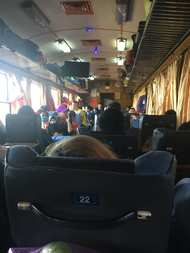 Soft seats with AC cart with Vietnam Railways