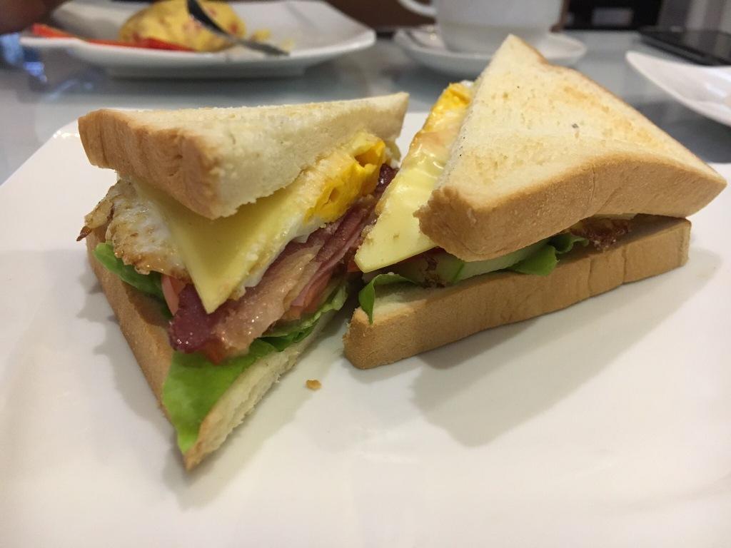 Breakfast sandwich @ our hotel in Hanoi