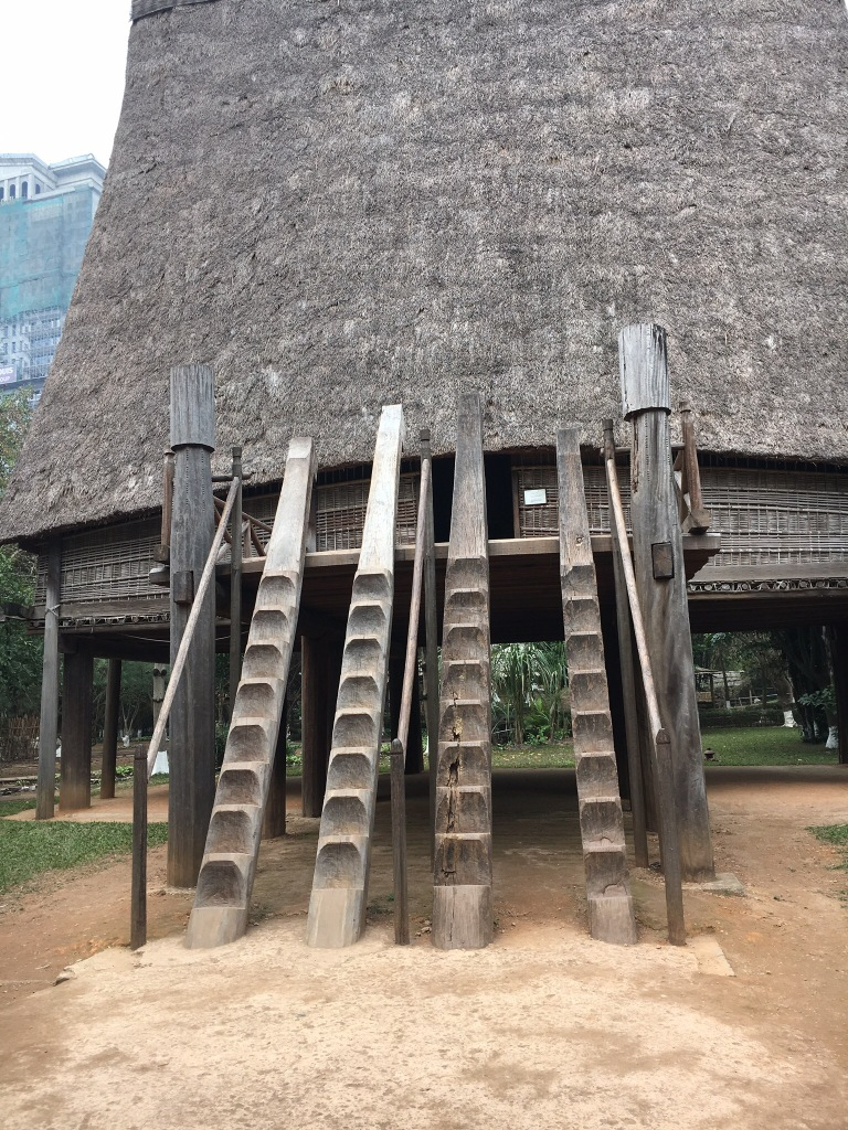 The stairs to one of the houses @ The Vietnam Museum of Ethnology