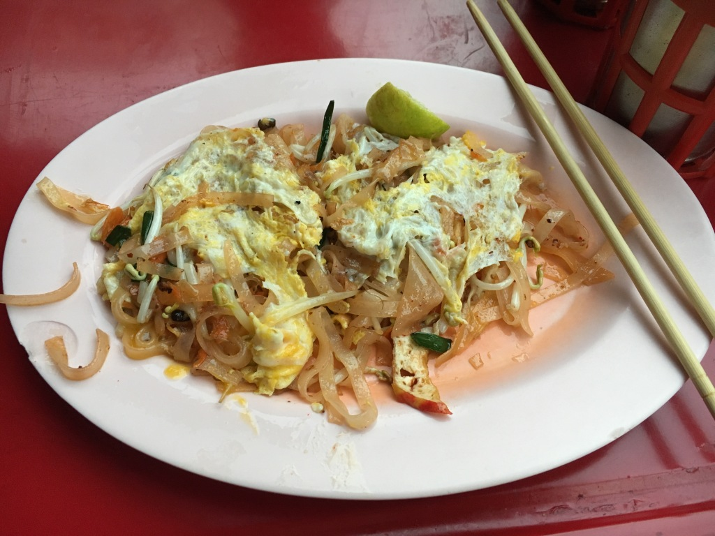 Pad Thai at a street stall in Chinatown