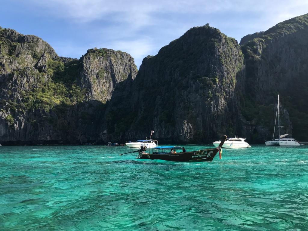 Entering Maya Bay. Photo credit: Aaron.