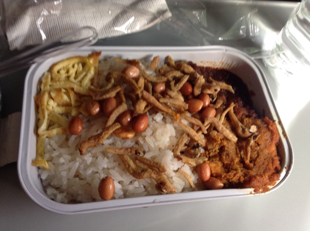 Cannot transit through Malaysia without having some Nasi Lemak for breakfast!