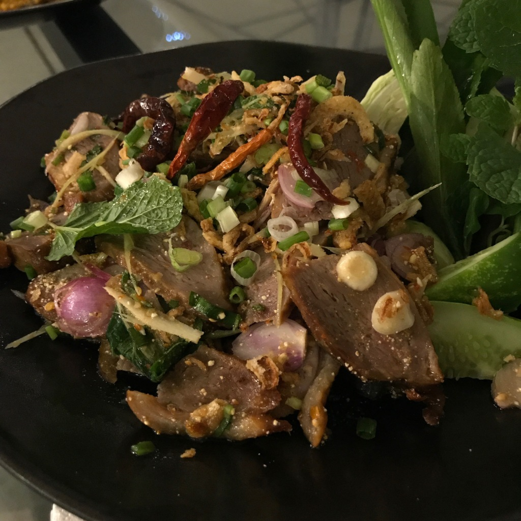 Spicy duck salad @ The Never Ending Summer