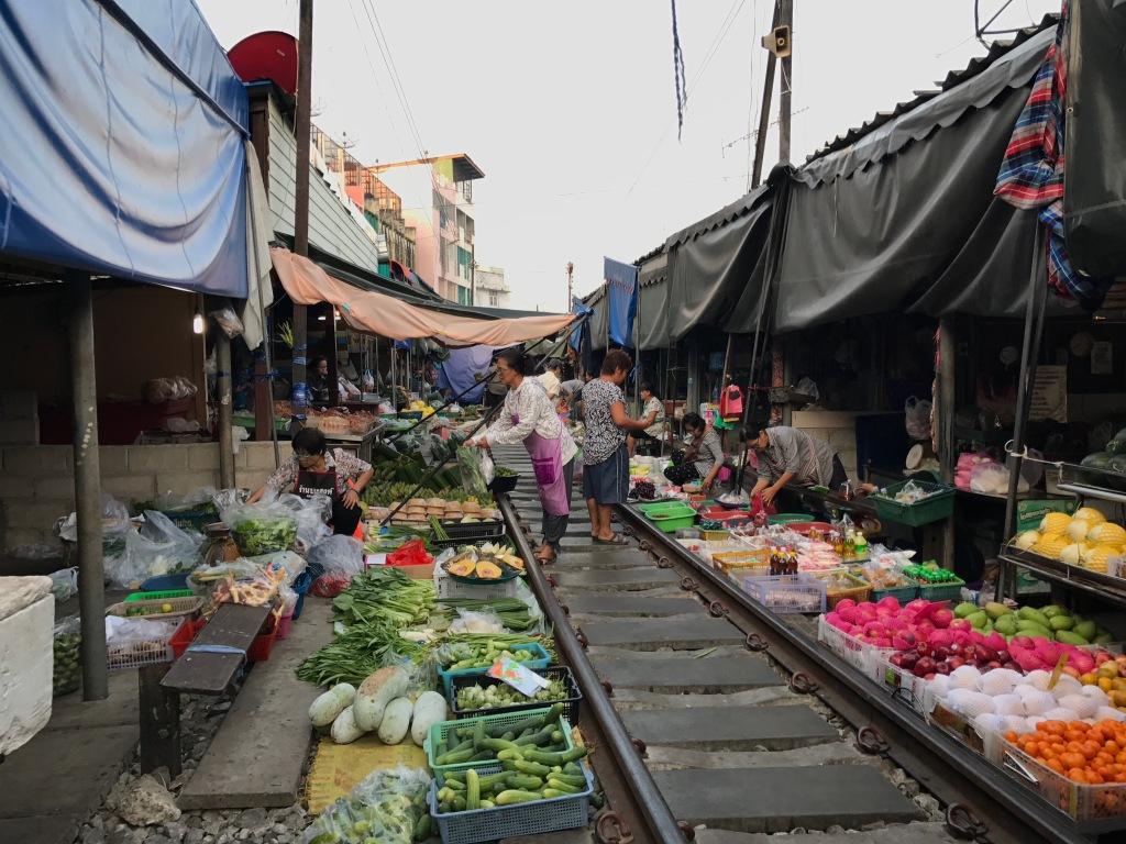 Maeklong Train Market. Photo credit: Aaron.