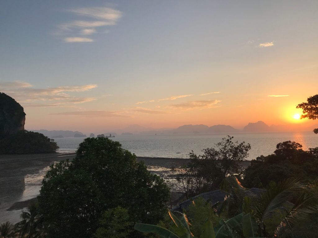 The sunrise from our villa. Photo credit: Aaron.