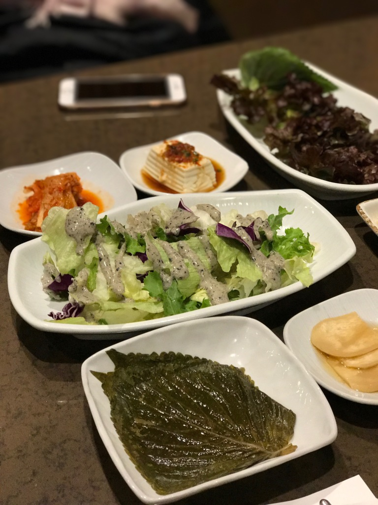Some of the side dishes @ Maple Tree House. Photo credit: Aaron.