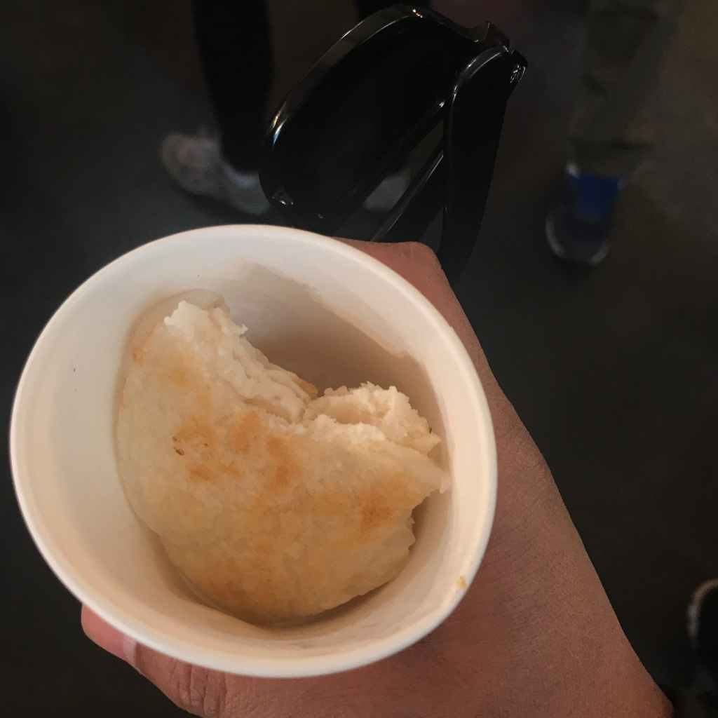 Mystery street food. Does anyone know the name of this? Photo credit: Aaron.