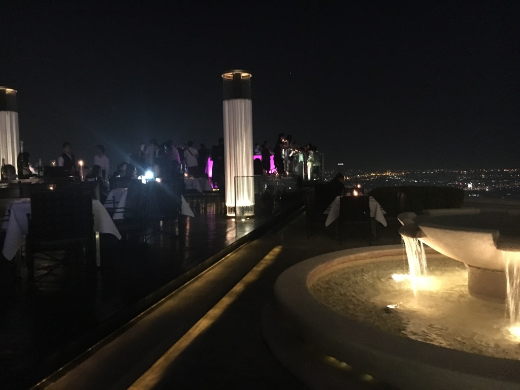 Everybody wants a piece of that night view @ Sky Bar