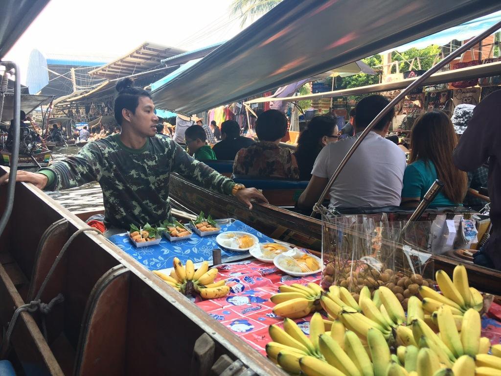 A vendor pushing us along.
