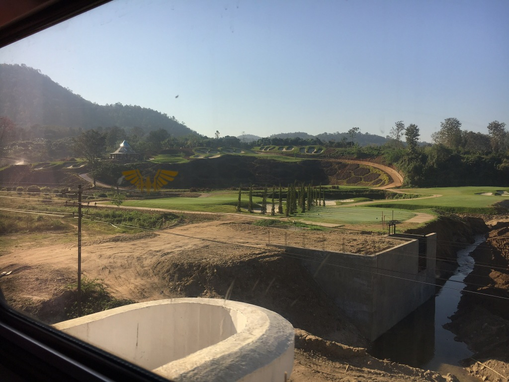 Cool scenery on the train.