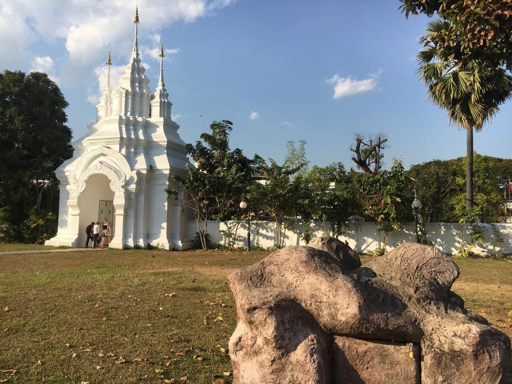 The exit of Wat Suan Dok.