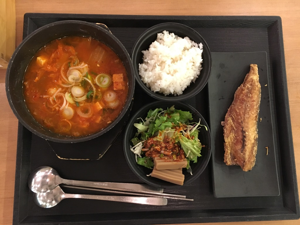 Fish stew with fried wish lunch set @ Our Home.