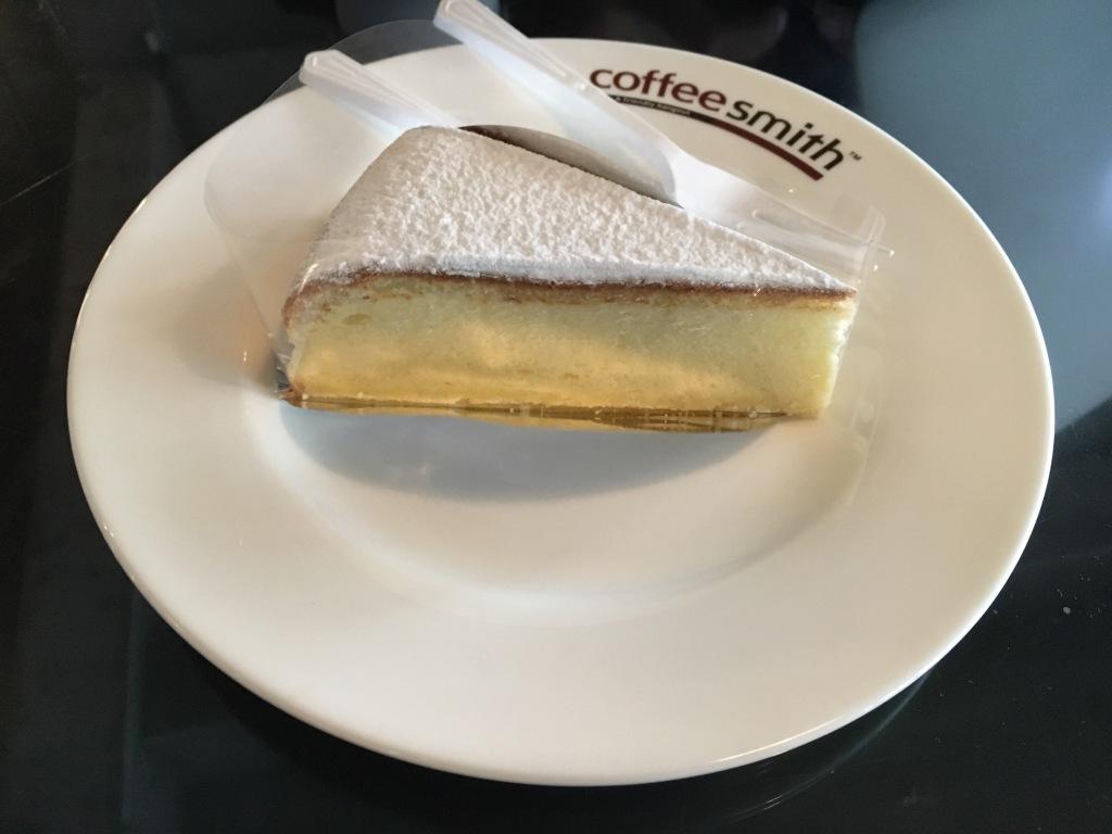 Soufflé cheesecake at Coffeesmith (coffee shop #2).