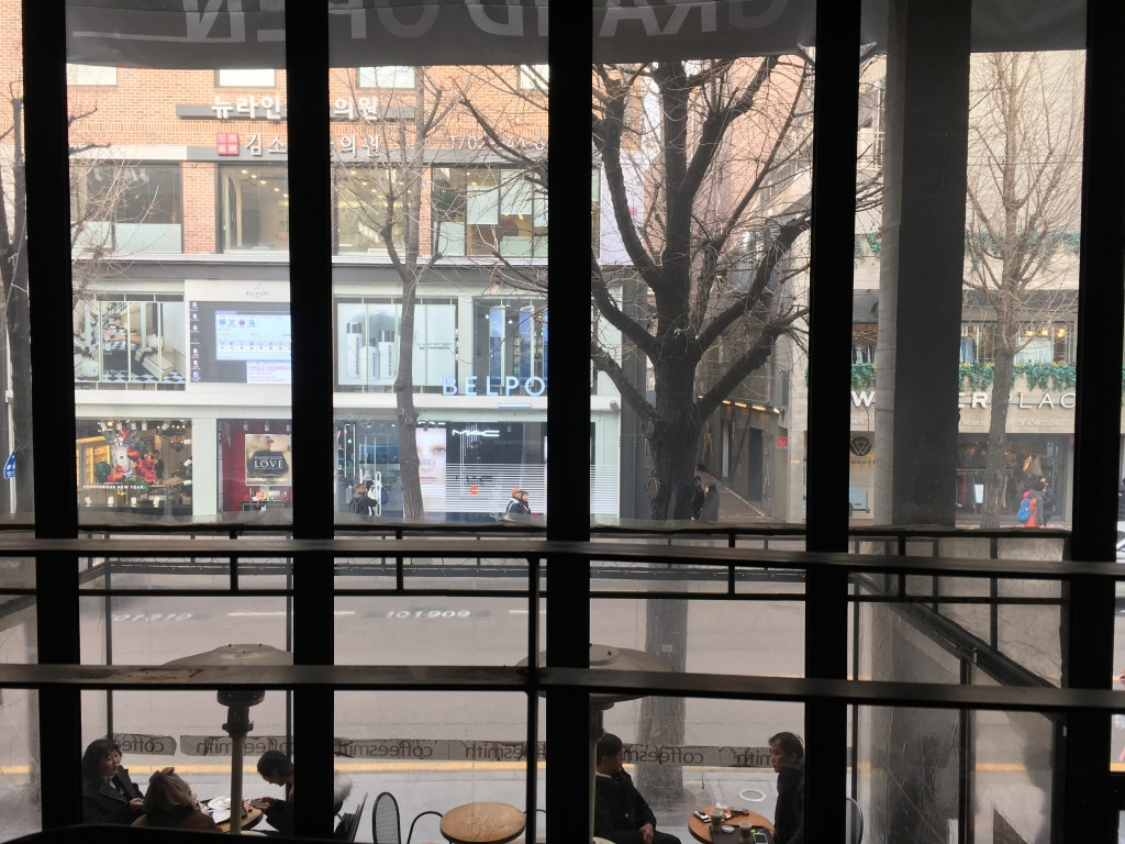 The view of Garosugil from Coffeesmith.
