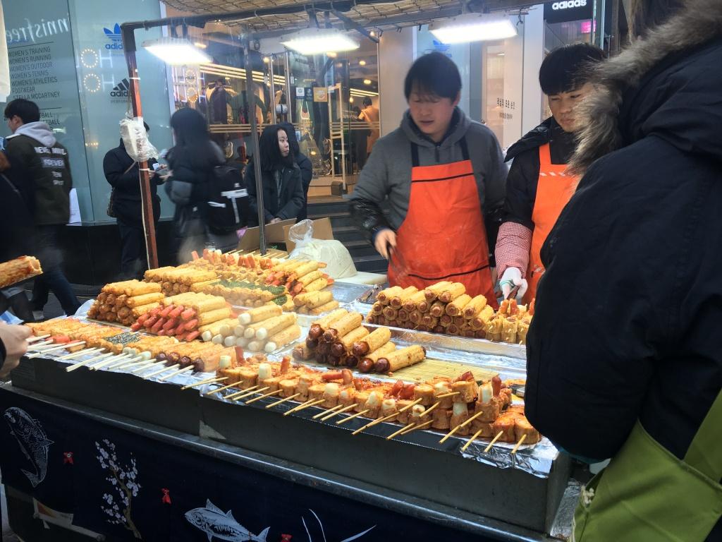 Street food in Myeongdong.