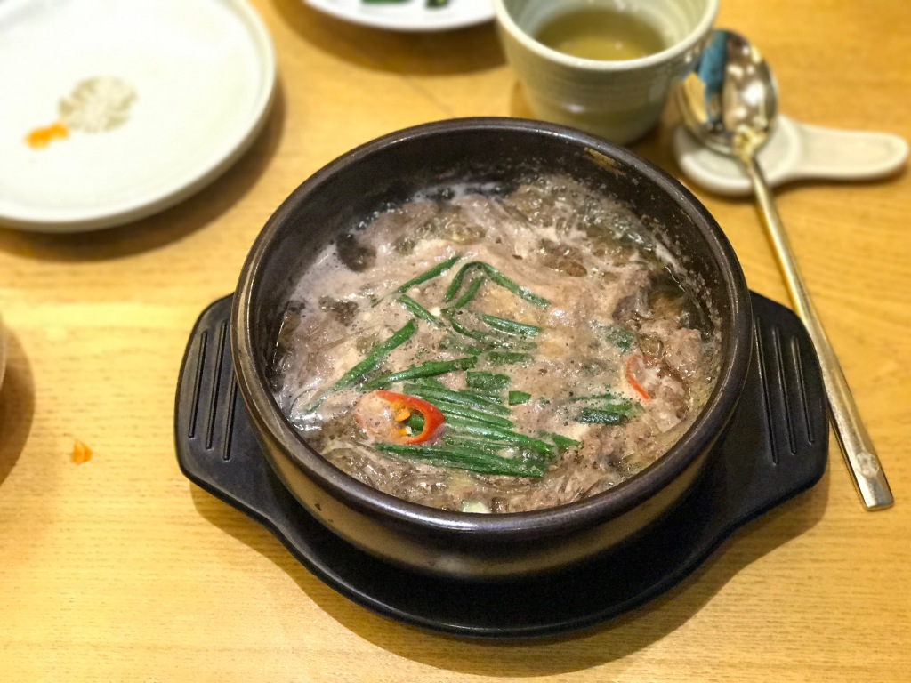 Bulgogi stew @ Hansik. Photo credit: Aaron.