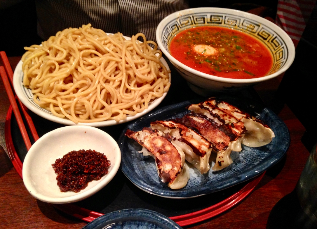 Tsukemen and gyoza @ Santouka