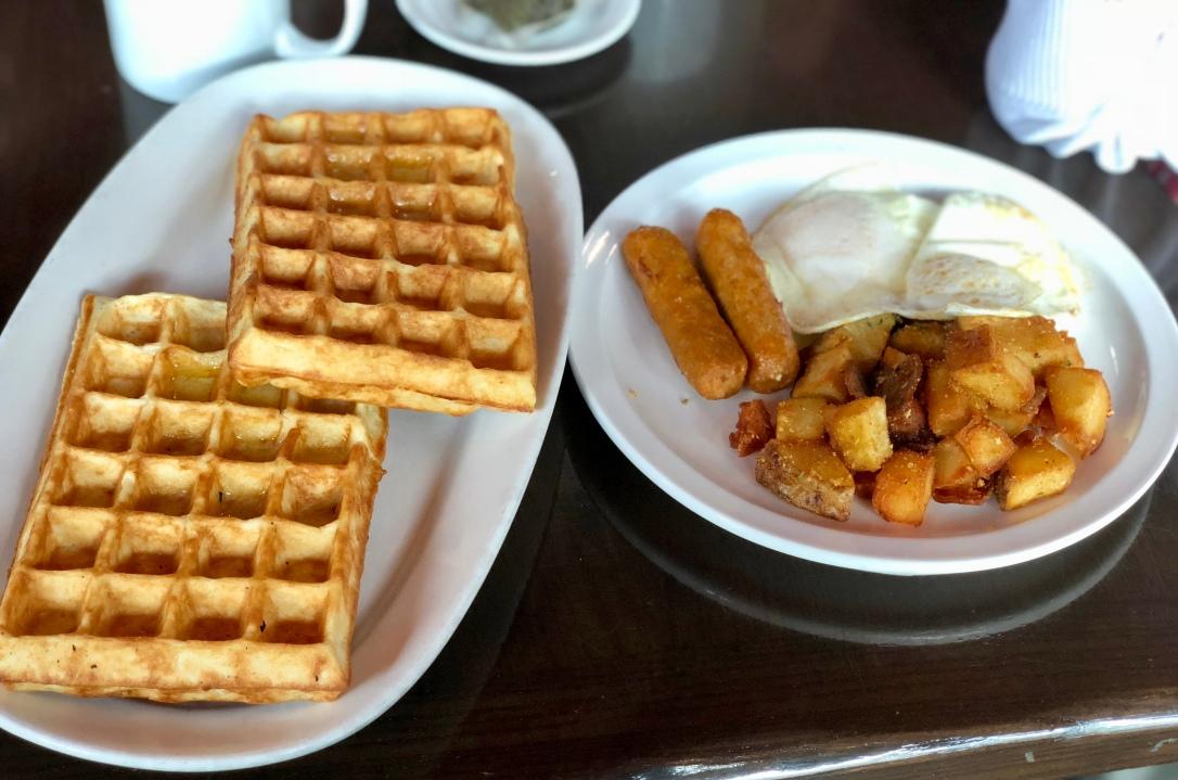 Scandalicious Waffle Breakfast