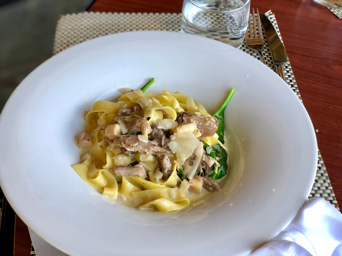 Duck fettuccine @ Old Vines Restaurant at Quail's Gate Estate Winery