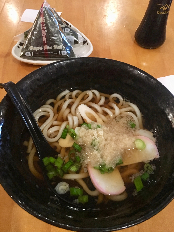 Onigiri + udon @ Manpuku Cafe