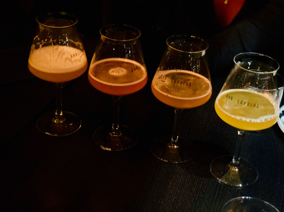 Flight of 4 IPAs @ Bar Lulupus