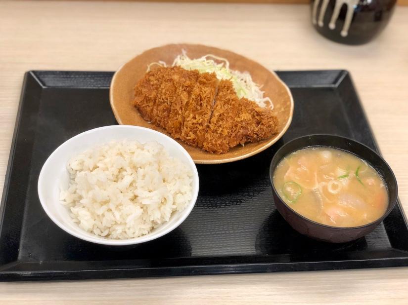 Tonkatsu breakfast @ Katsuya