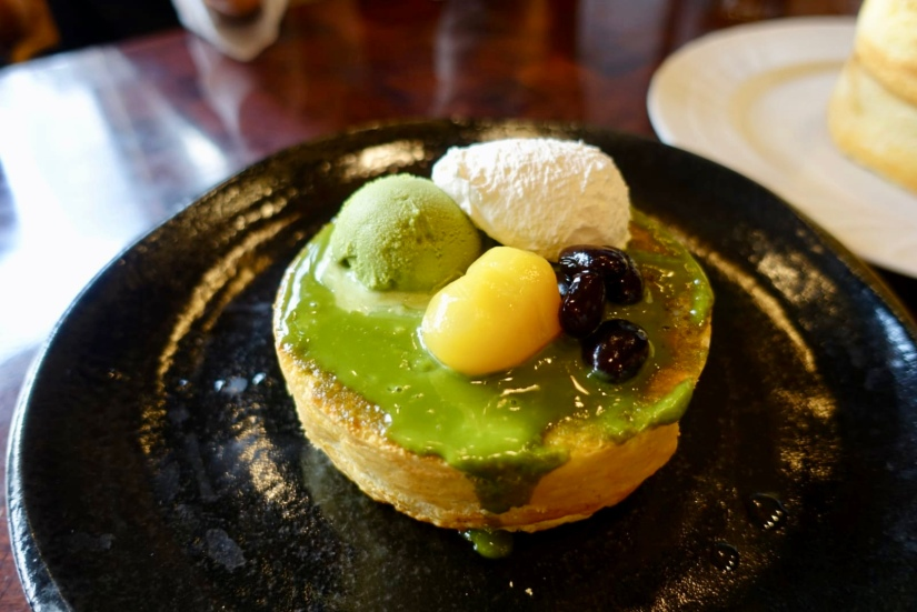 Matcha pancake @ Hoshino Coffee