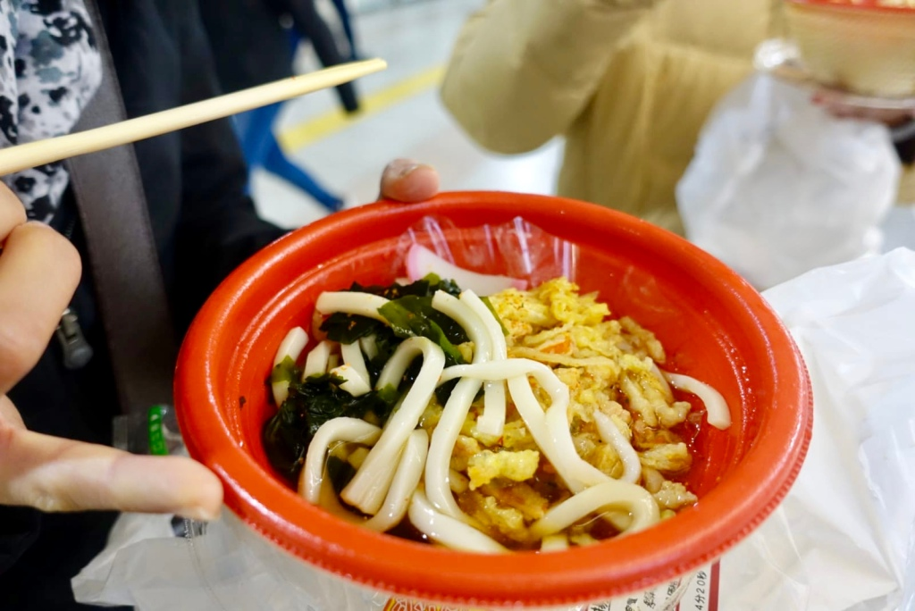 Udon from a convenience store