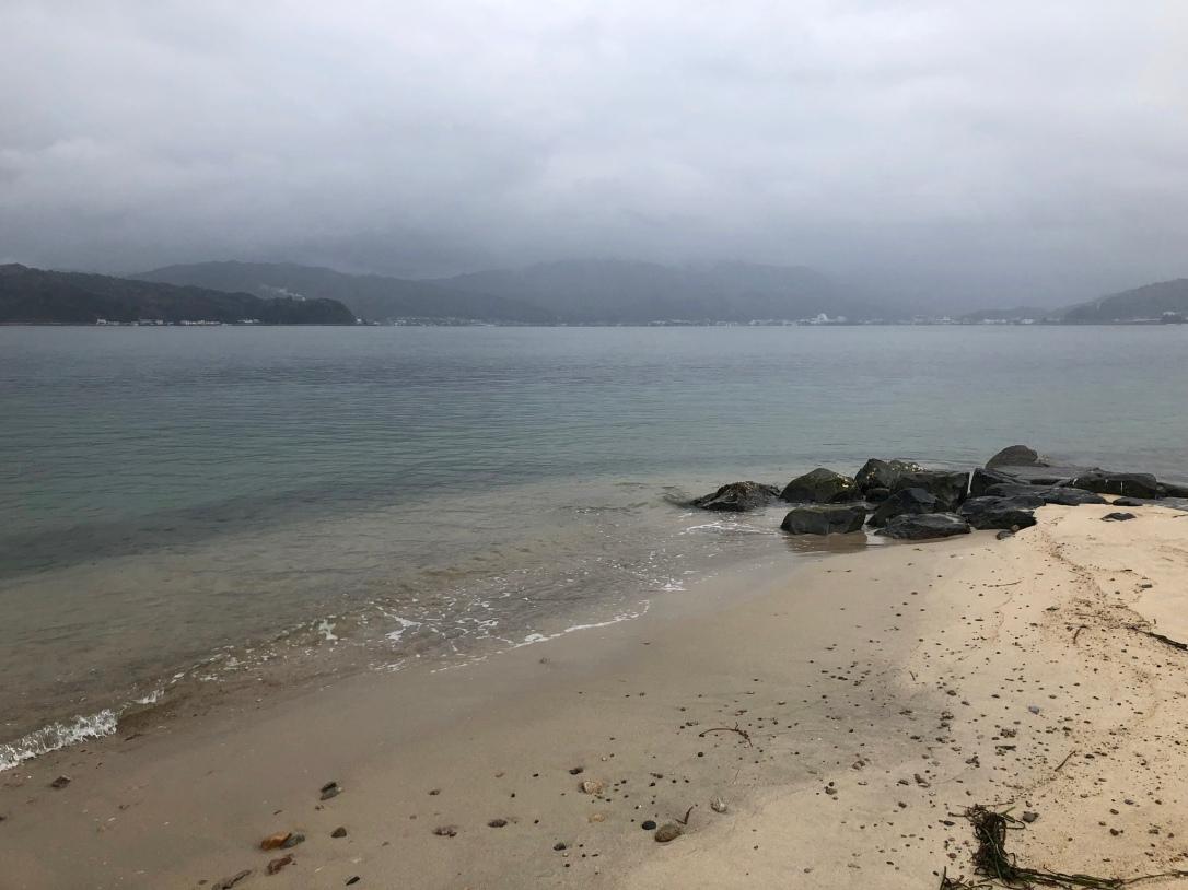 View from Amanohashidate sandbar
