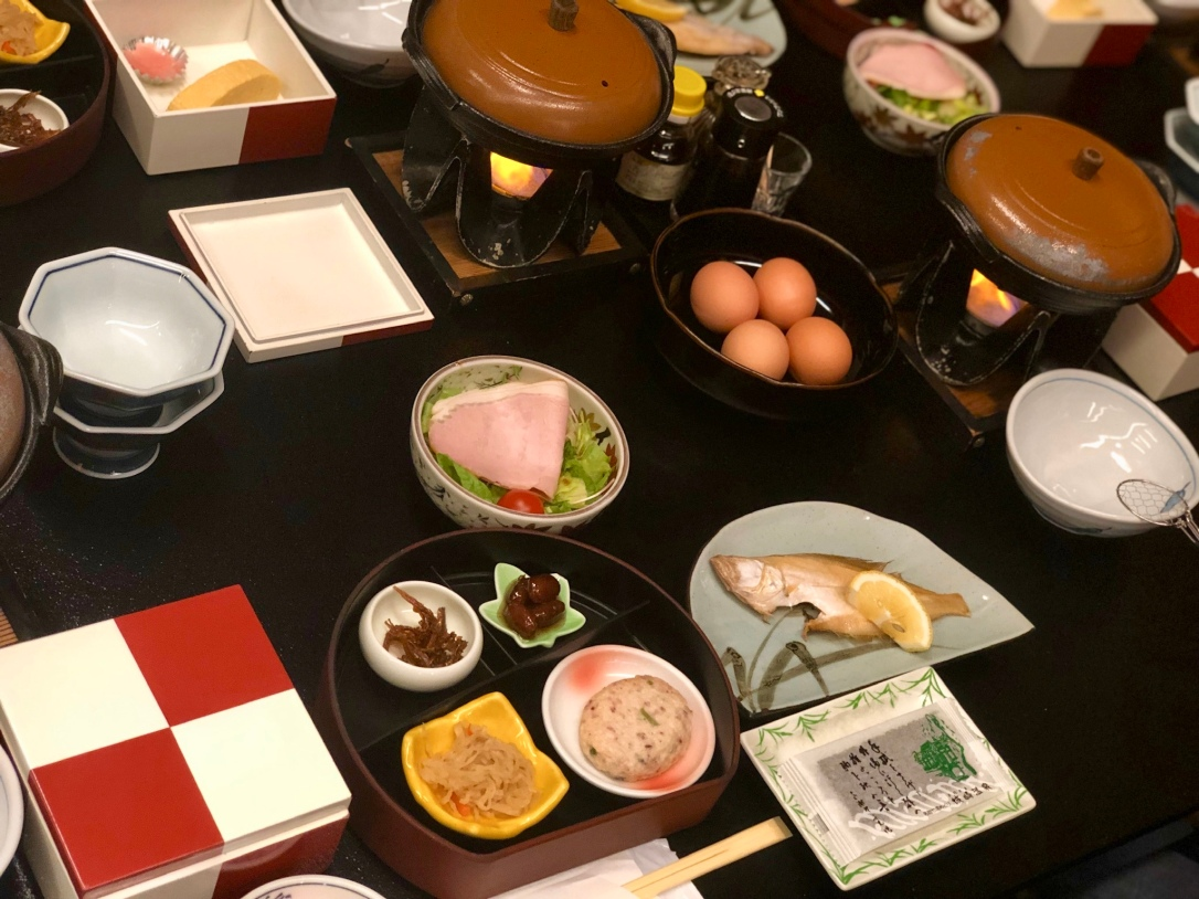 Our traditional Japanese breakfast spread