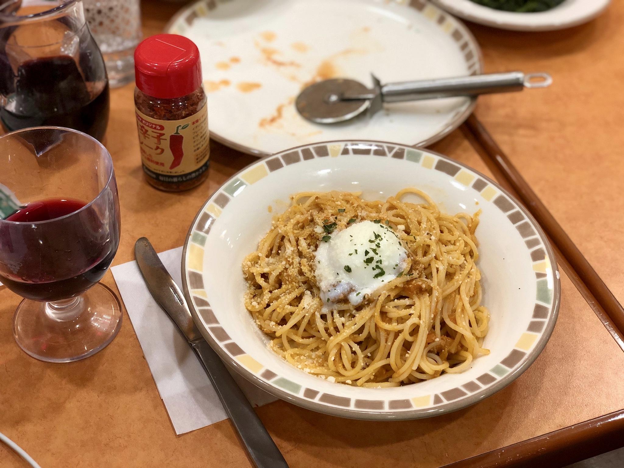 """""""Meat Sauce"""" Spaghetti @ Saizeriya"""