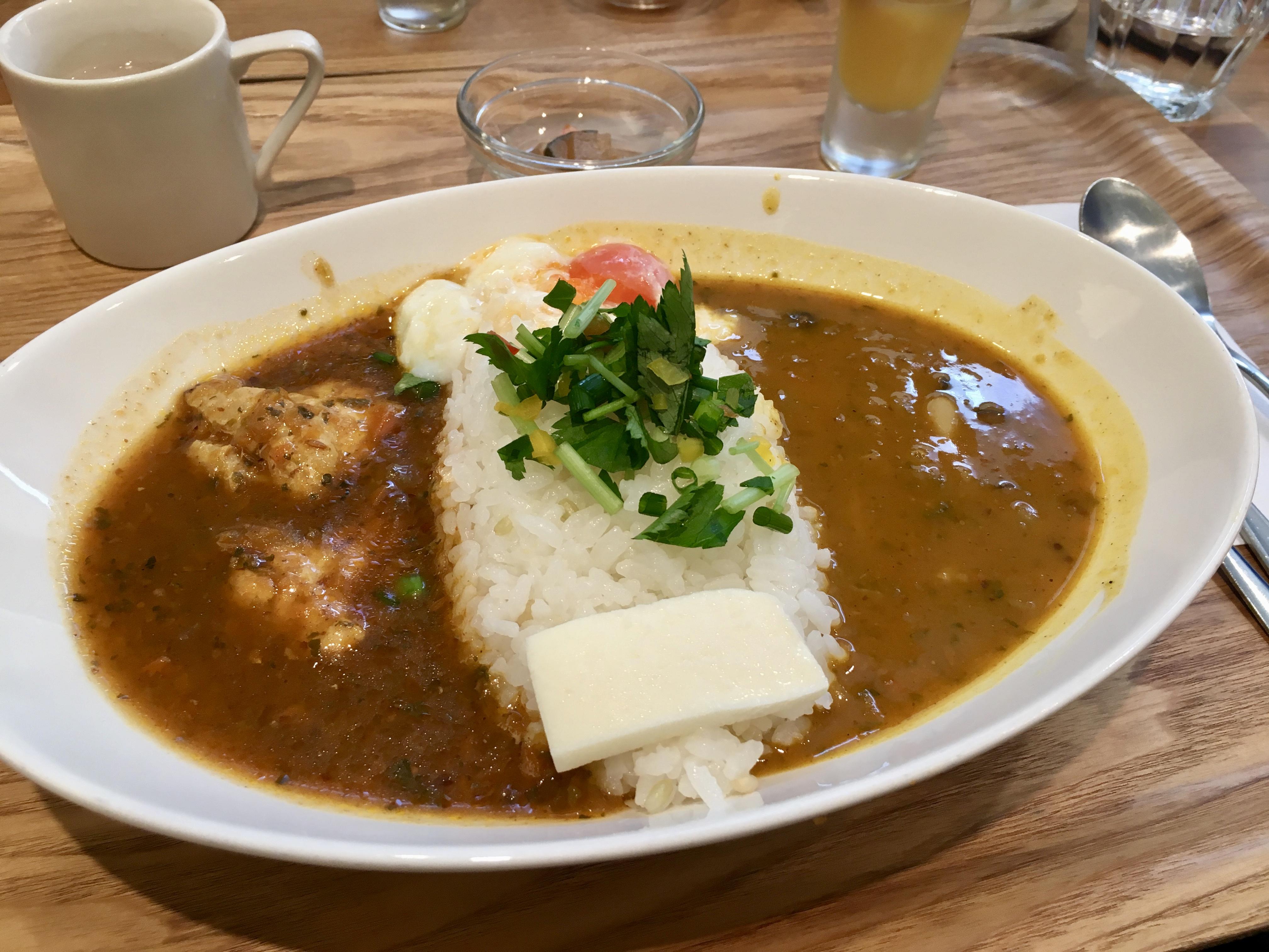 Lunch set at Kanazawa Nanahoshi Curry
