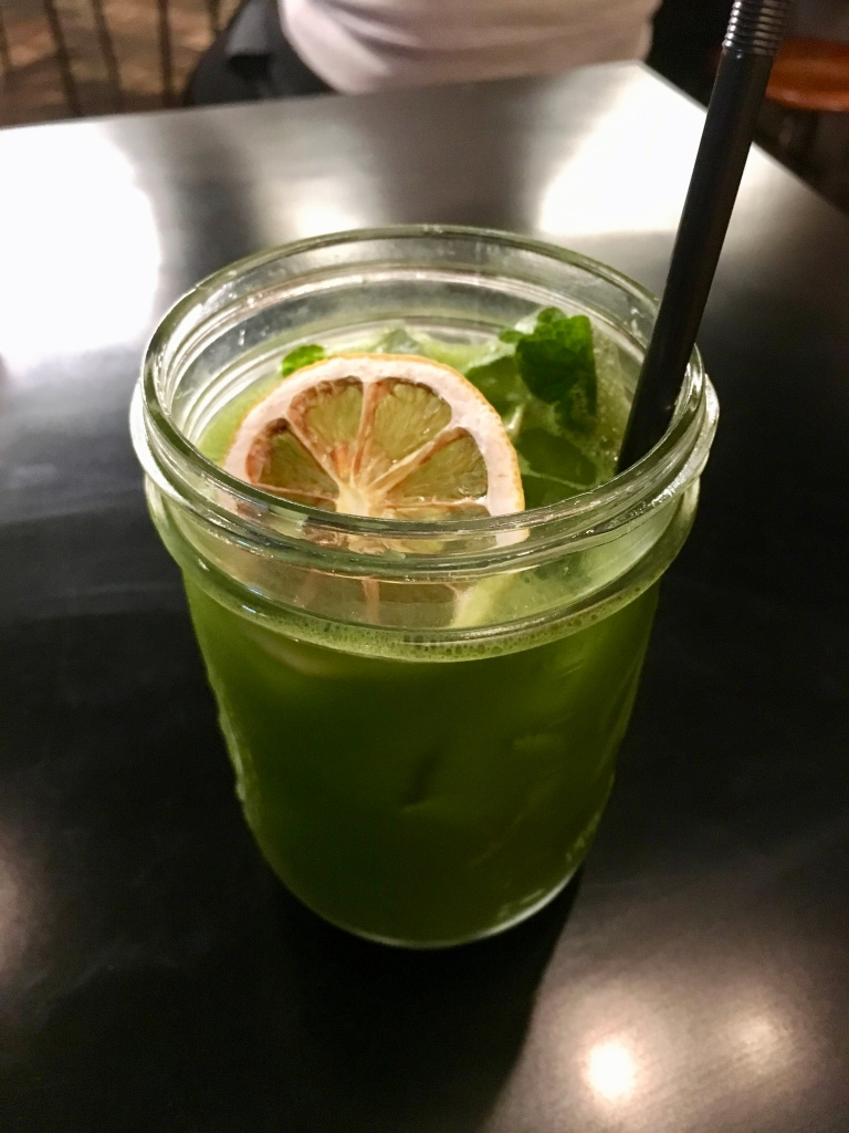 Iced matcha mint lemonade @ Deux Ex Machina