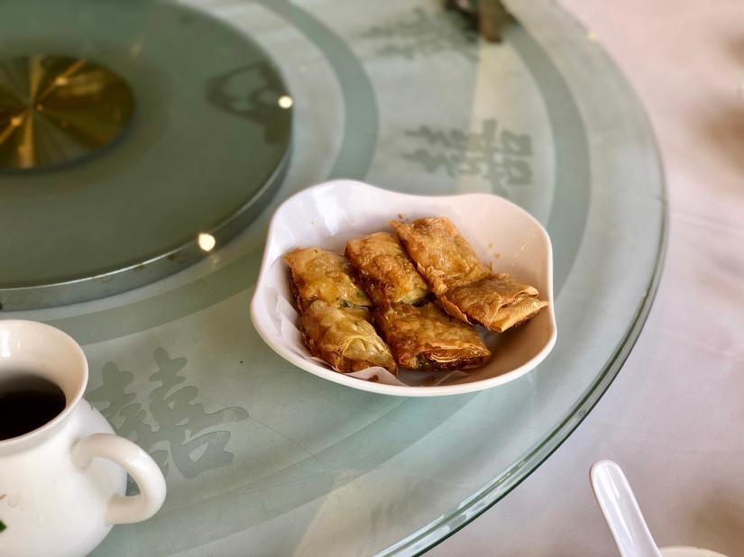 Fried beancurd rolls @ 稻香酒家