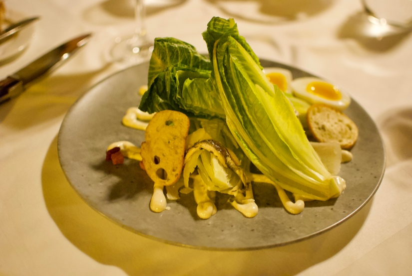 Caesar salad @ Fairmont Chateau Montebello