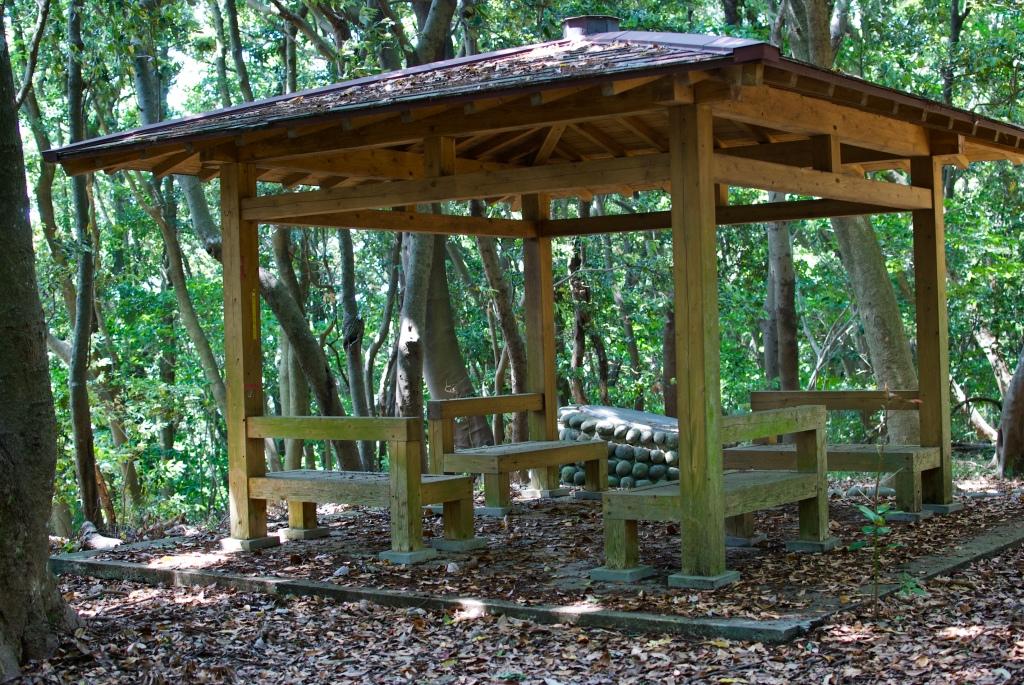 Meditation hut in Meditation Forest of Nokonoshima Island